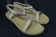 Women's Brown Rhinestone Pendant Sandals Party Shoes Sz 5 6 7 8 9 10 11
