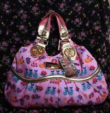 ♡ Betsey Johnson BETSEYVILLE Poly Pink FRUIT-STATION Hobo Handbag SREW Print $98
