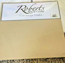 """Roberts Arts & Crafts Cardstock Pack Oatmeal 12"""" x 12"""" 25pk New"""