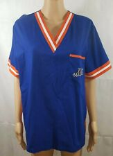 1a8ae11222a New York Mets Baseball Scrubs Top Blue Nursing Medical Uniform Scrub Dutz Size  M