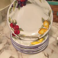 Totally Today Fruits Dinnerware Salad Plates Set Of Six