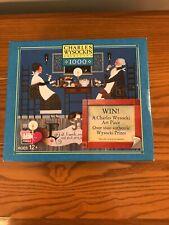 Charles Wysocki 1000 Piece Puzzle Dining Sweethearts