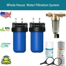 """10"""" Big Blue Whole House System / 4.5x10� Carbon Block Water Filter / Pre Filter"""