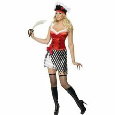 Naughty Sexy Pirate Ladies Fancy Dress Costume Small Womens Fever Smiffys