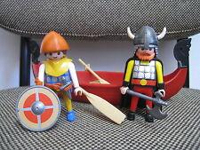 Playmobil - Vikingos - Barca Remos Escudo Hacha - Año 2002 - 3156 - (COMPLETO)