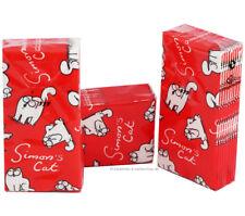 5 Packs (=50 St.) Simon's Cat TASCHENTÜCHER rot viele Katzen, Simons Katze Motiv