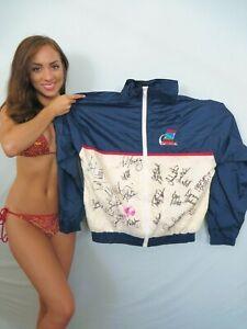 LPGA Kraft Nabisco golf jacket signed Nancy Lopez Ochoa Sorenstam Webb +20 flag