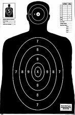 Paper Shooting Targets Black Silhouette Gun Pistol Rifle B-27 Qty. 100 23x35