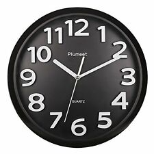 """Large Number Wall Clocks Clock, 13"""" Silent With Numbers And Non-ticking Digital,"""