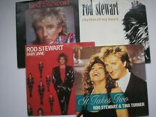 "ROD STEWART *FAB FOUR* 4 x 7"" VALUE PACK  Free UK P&P"