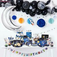 Outer Space Theme Tableware Balloons Banner Disposable Birthday Party Supplies