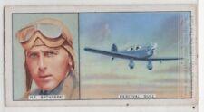 H. F. 'Jim' Broadbent Australia English Pilot Flying 1930s Trade Ad Card