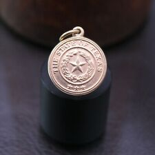 """Retired James Avery """"State Seal of Texas"""" Charm 14k Yellow Gold"""