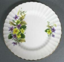 Shabby vintage bone china Royal Sutherland plate yellow floral violet motif-chic
