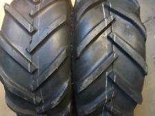 TWO 23/10.50x12 JOHN DEERE R1 Lug Gravely Lawn Tires & TWO 16/6.50-8 Turf Tires