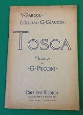 V. SARDOU - TOSCA - RICORDI & C MUSICA OPERA LIRICA