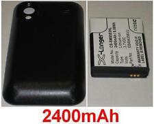 Batería para SAMSUNG GT-S5830T Galaxy S Min EB494358VU, Con Cubierta 2400mAh