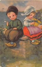 B24132 Belle Illustration Enfant Children Smoking netherlands