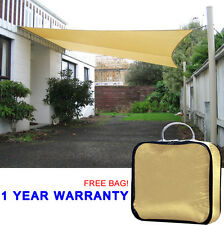 Quictent 20'x16' Rectangle Sun Shade Sail Canopy Patio Top Cover w/Free Bag Sand