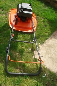 petrol lawn mower  flymo hover