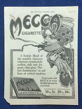 1915 Lot Magazine Tobacciana Ads  Turkish Blend Mecca Cigarettes ~  Smoking Hats