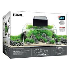 Fluval Edge 6-Gallon Aquarium with 21-LED Light, Black FISH TANK
