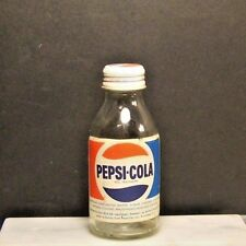 VINTAGE PEPSI-COLA GLASS BOTTLE MINI 12.3cl - PAPER LABEL SWEDEN - VERY RARE