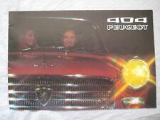 1971 Peugeot 404 Brochure