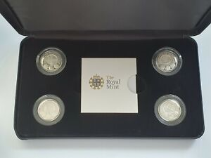 Royal Mint - 2010 + 2011 Silver Proof Four Coin Cities Set 4x £1 One Pound Coins