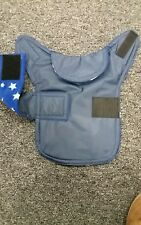 Size XXS Waterproof dog coat. Navy  with royal and white star fleece  inner.