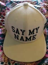 New with Tag Married To The Mob Say My Name Cap White Adjustable back