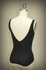 NWOT ALESSANDRO DELL'ACQUA Italy SIize S Plunge V-Back Ribbed Knit Top