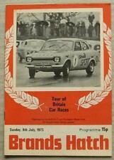 BRANDS HATCH 8 Jul 1973 TOUR OF BRITAIN CAR RACES Official Programme