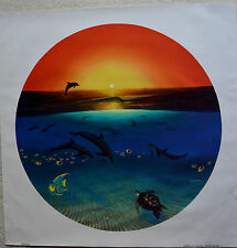 WYLAND WARMTH OF THE SEA GICLEE ON CANVAS SIGNED #174/750 W/COA DOLPHINS