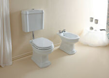 SANITARI A TERRA ROYAL ALTHEA VASO WC BIDET COPRISEDILE BIANCO