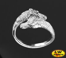 Bague  CHEVAL  -  Ring with HORSE  (Ajustable de la Taille 60 à la Taille 68)