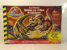 Hasbro Jurassic Park III Electronic Spino Vs T. Rex Battle Game 2001 t3394