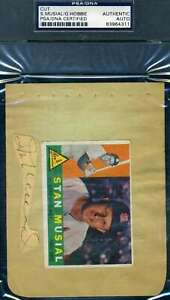 Stan Musial Glen Hobie PSA DNA  Autograph Hand Signed Album Page With 1960 Topps