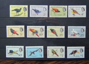 British Honduras 1962 Birds set to $5 LMM SG202 - SG213