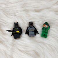 Lego Minifigures The Riddler Gray and Black Batman with Batarang