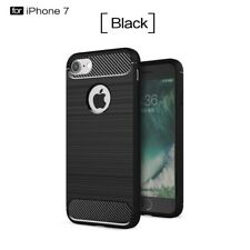 Carbon Fiber Slim Soft TPU Silicone Cover Case For Apple iPhone 6s 6 7 Plus 5 SE