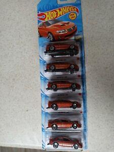 """2021"" HOT WHEELS '06 PONTIAC GTO SUPER DUTY ORANGE #5/10 D CASE (LOT OF 6)"