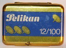 PELIKAN 12/100 vintage tin box Tumb tacks Tin box With 83 tumbs 1970's Germany