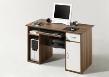 Schreibtisch Computertisch Bürotisch PC Tisch MICRO in Walnuss / Weiss NEU