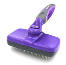 New listing Self Cleaning Slicker Brush Gently Removes Loose Undercoat Mats Tangled Hair New