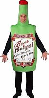 Adult Funny BEER BOTTLE Alcohol Fun Fancy Dress Costume Unisex Stag Hen Party