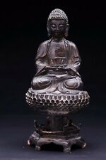 Large Rare Old Chinese Bronze Buddha Seated Figure Statue Collection