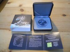 2016 Liberty Ounce of Space 999 Silver coin walking on moon,incl meteorite inset