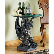 Gradas Hastings the Warrior Dragon Glass-Topped Sculptural Coffee End Table B