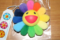 "Takashi Murakami ComplexCon Flower (Rainbow) 3.5"" Pin Plush Hang Keychain BTS"